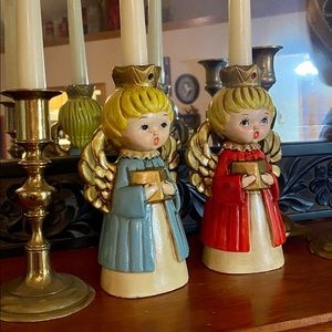 Vintage Accents - Two Vintage ARDCO Angel Choir Candle Holders